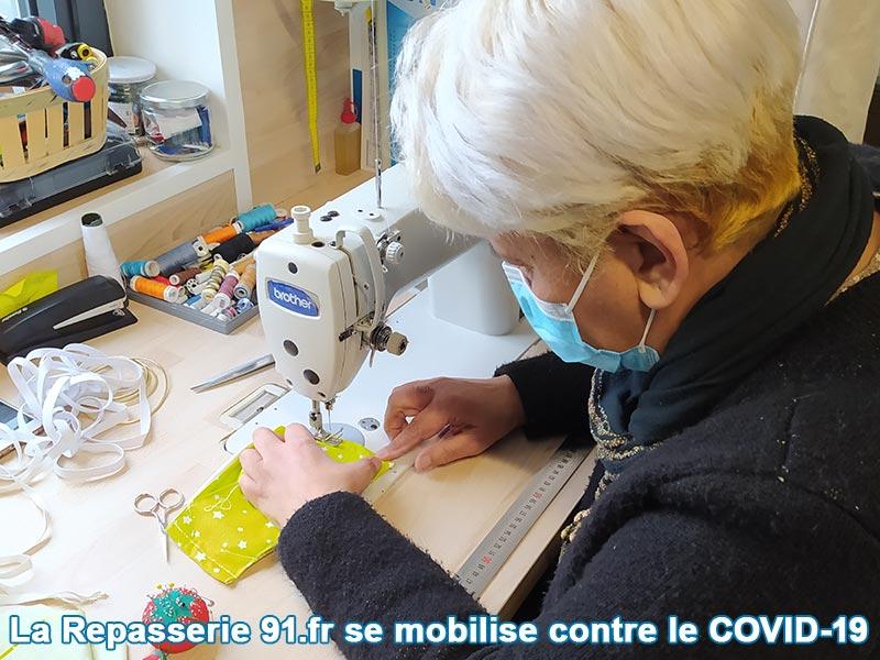 La Repasserie 91 se mobilise contre le COVID-19